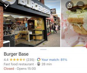 irpr google 360 burgers