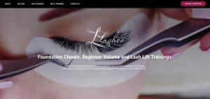 lashes irpr landing page design